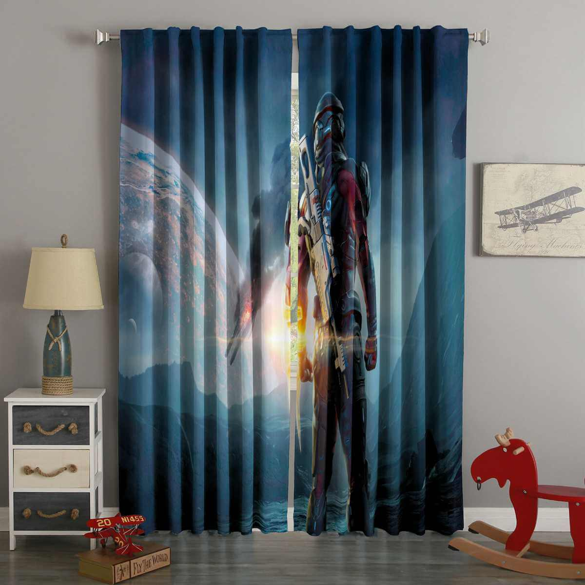 3D Printed Mass Effect Andromeda Style Custom Living Room Curtains