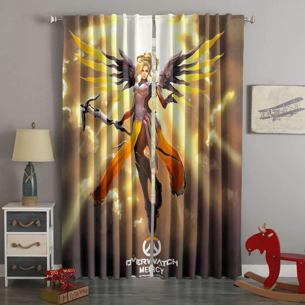 3D Printed Overwatch Mercy Style Custom Living Room Curtains