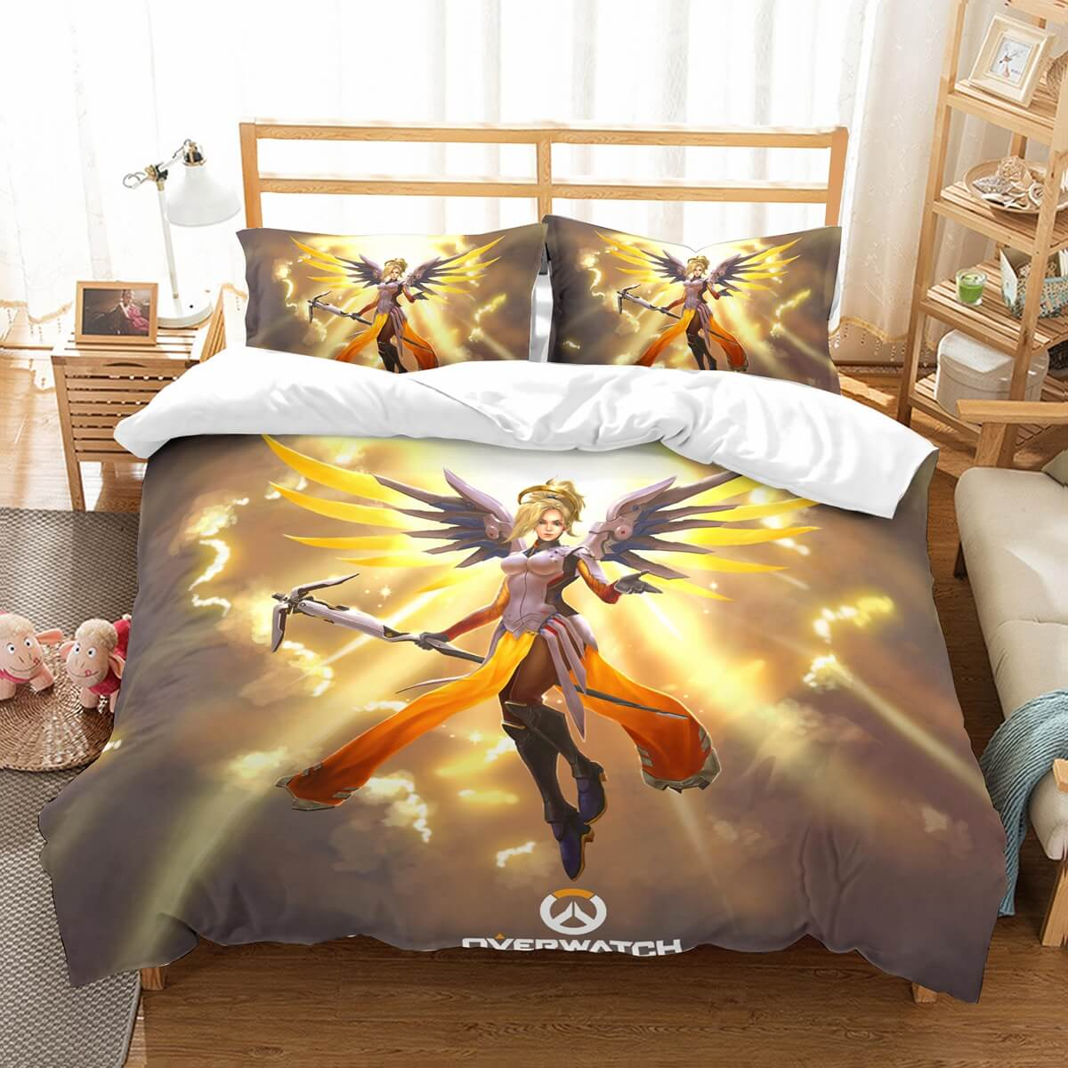 3D Customize Overwatch Mercy Bedding Set Duvet Cover Set Bedroom Set Bedlinen