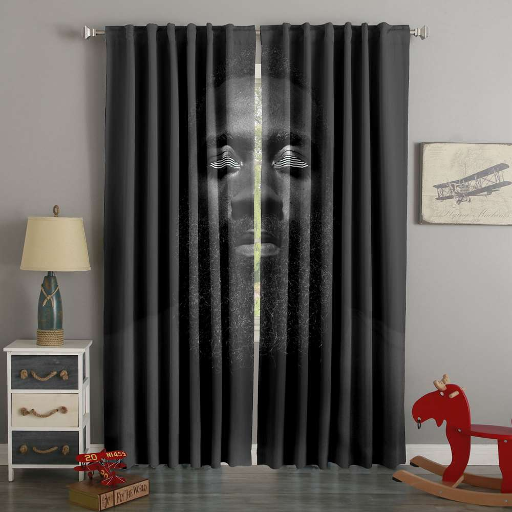 3D Printed James Harden Custom Living Room Curtain