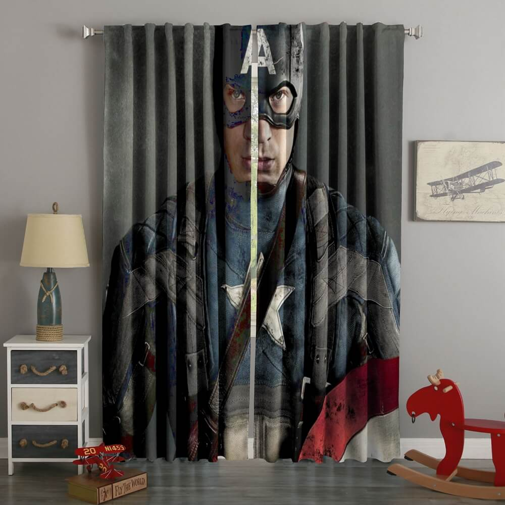 3D Printed Captain America Style Custom Living Room Curtains