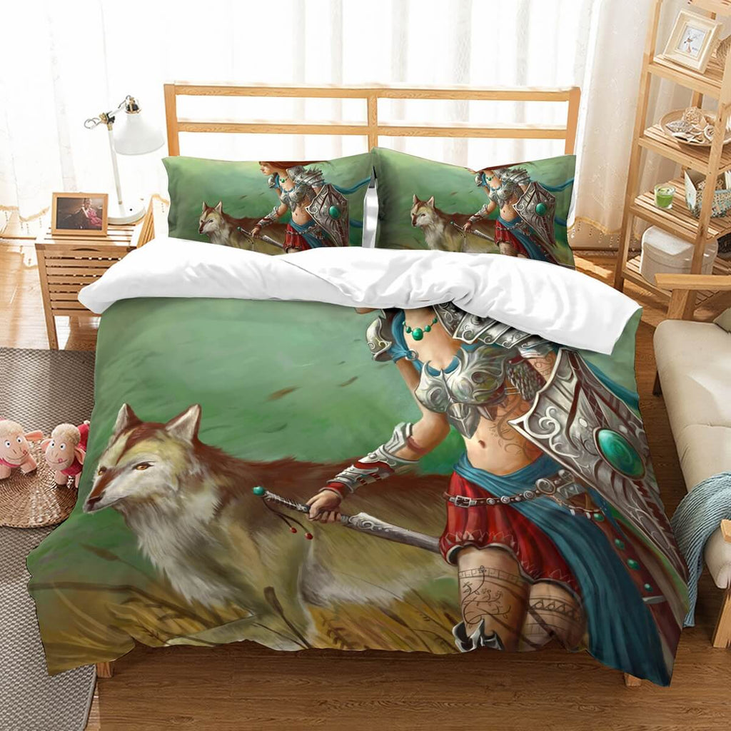 3D Customize Amazon Warrior Bedding Set Duvet Cover Set Bedroom Set Bedlinen
