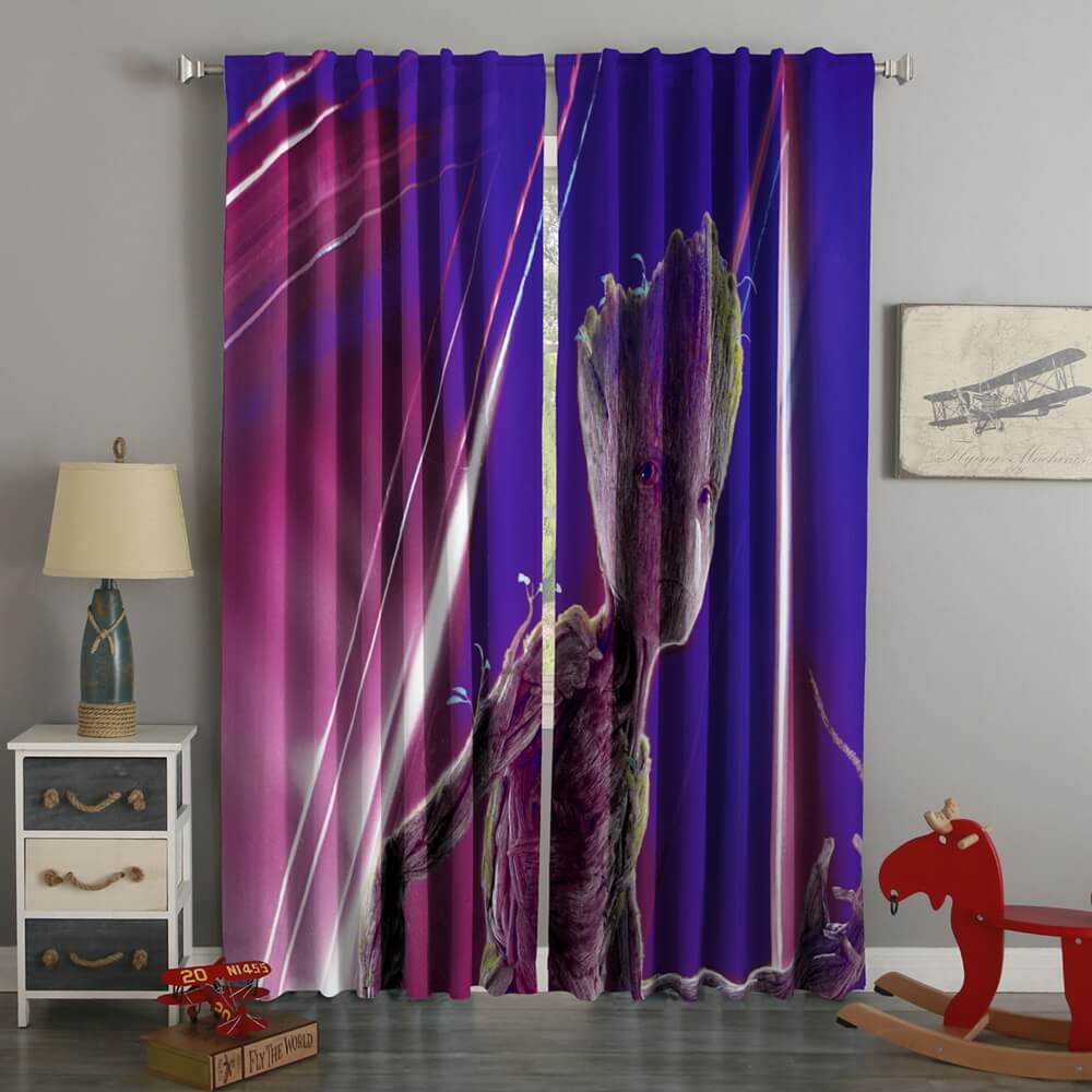 3D Printed Groot Avengers Infinity War Style Custom Living Room Curtains