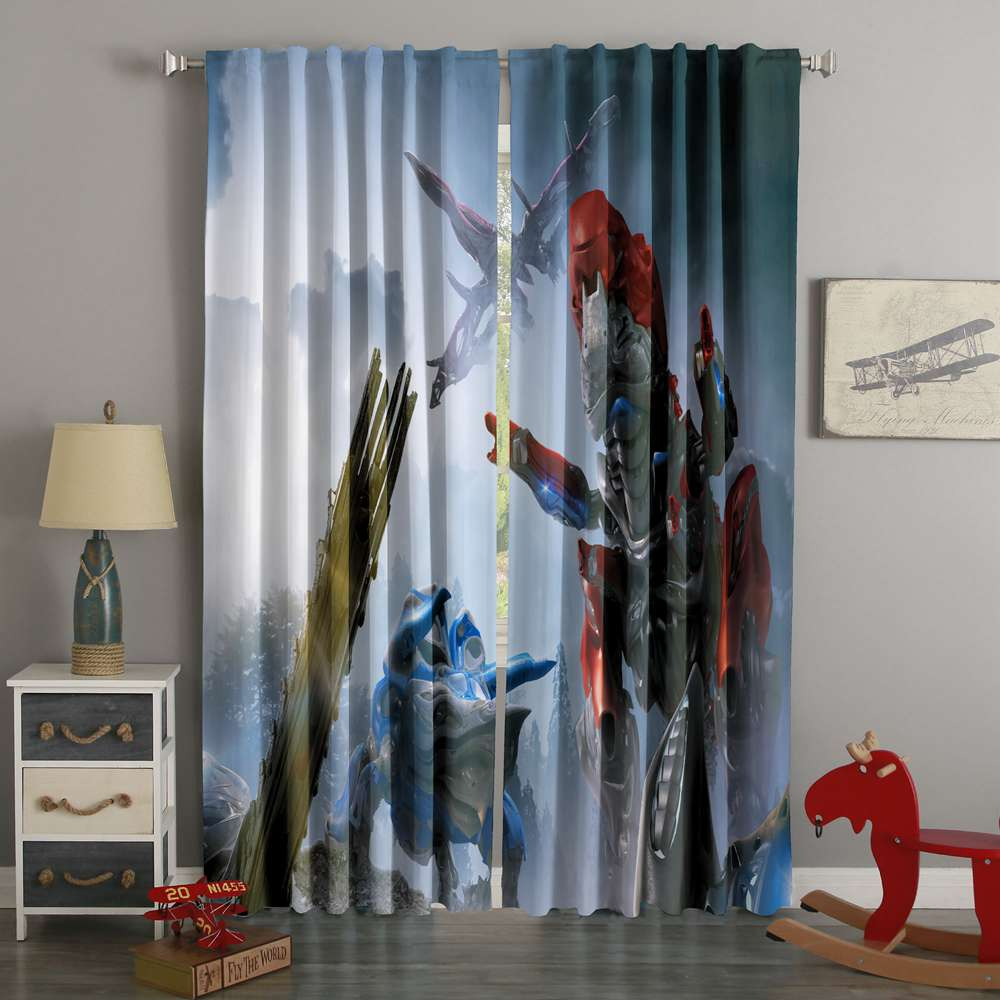 3D Printed Power Rangers Style Custom Living Room Curtains