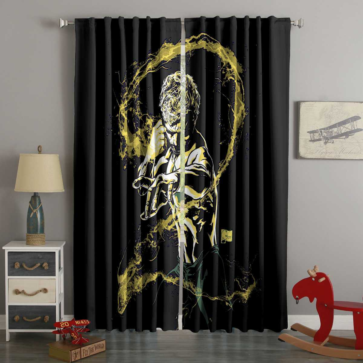 3D Printed Iron Fist Style Custom Living Room Curtains