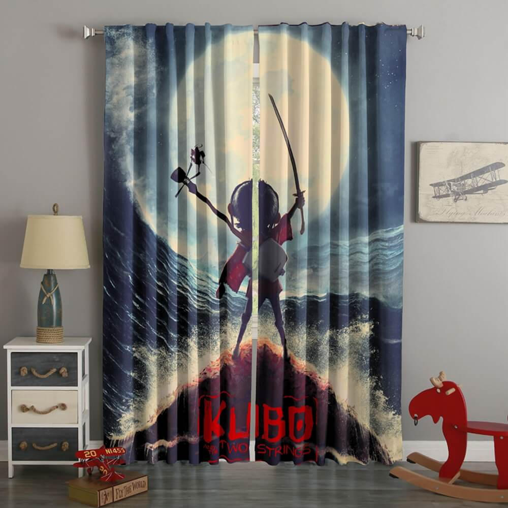 3D Printed Kubo And The Two Strings Style Custom Living Room Curtains