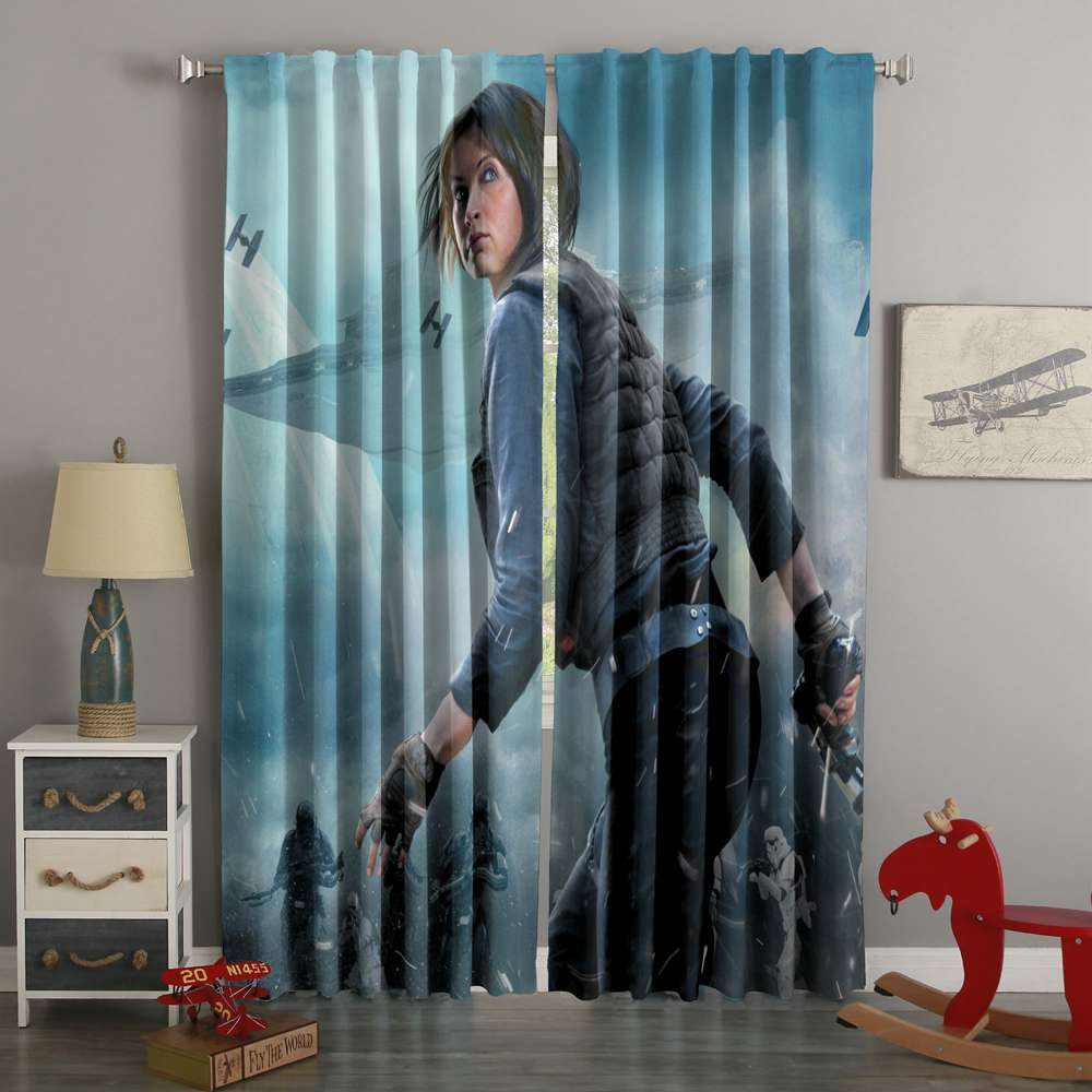3D Printed Rogue One Style Custom Living Room Curtains