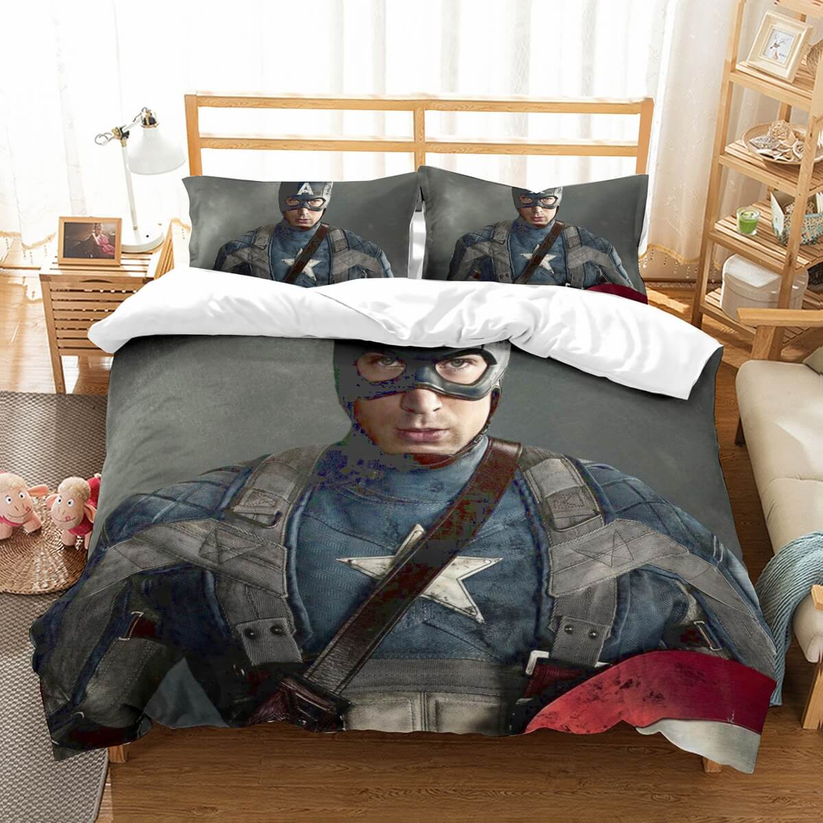 3D Customize Captain America Bedding Set Duvet Cover Set Bedroom Set Bedlinen