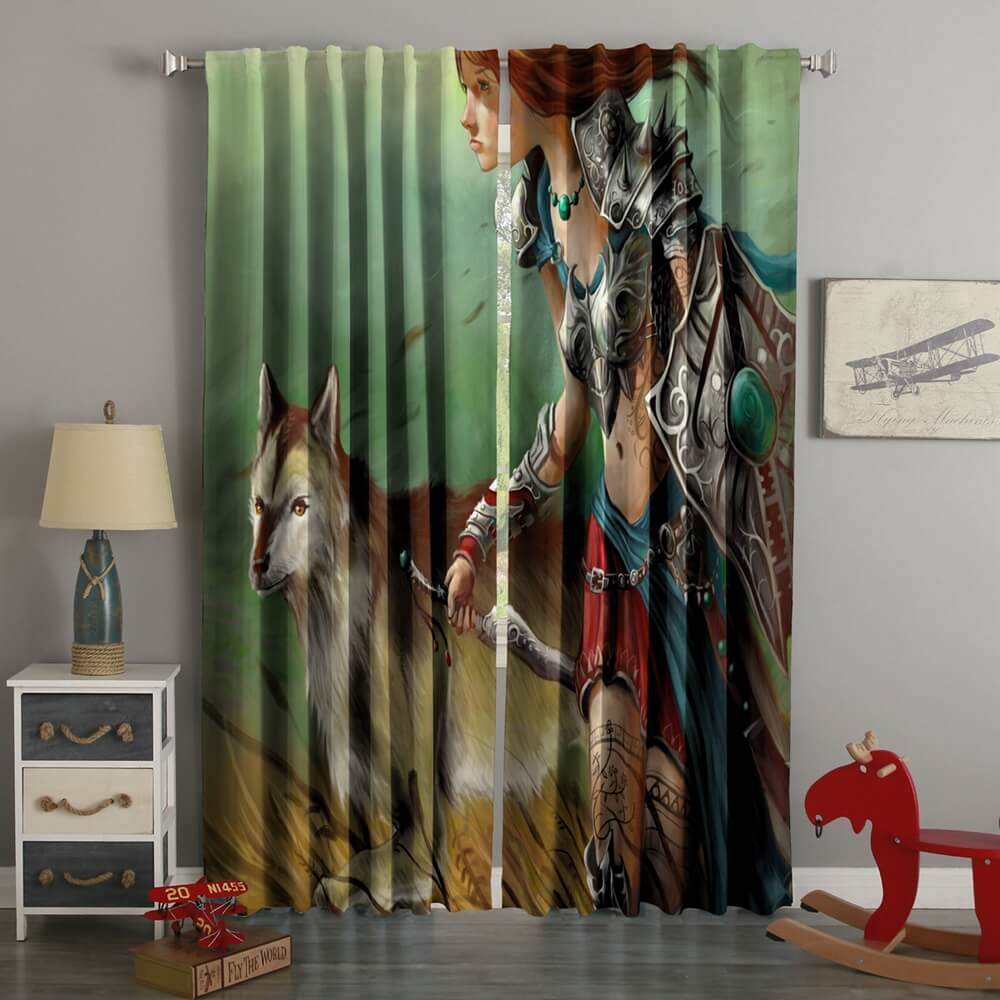 3D Printed Amazon Warrior Style Custom Living Room Curtains