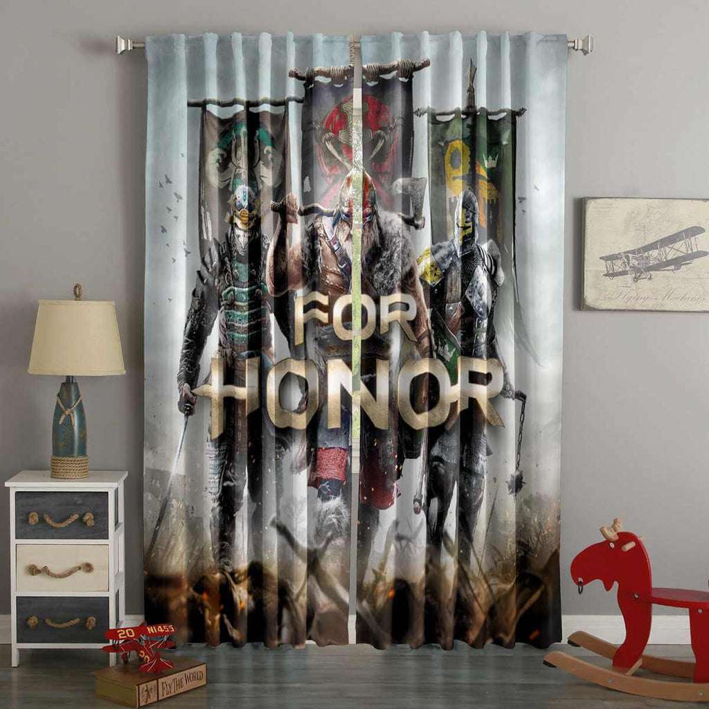 3D Printed For Honor Style Custom Living Room Curtains