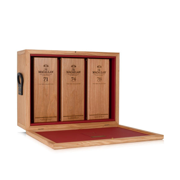 Macallan Red Collection Half Set with Trunk (71, 74, 78)
