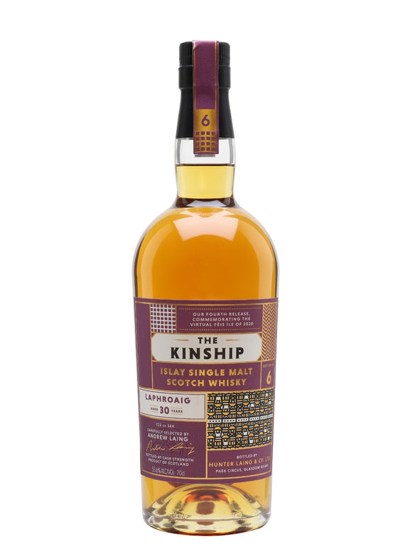 LAPHROAIG 1990 30 YEARS OLD, 2020 THE KINSHIP, 53.6%