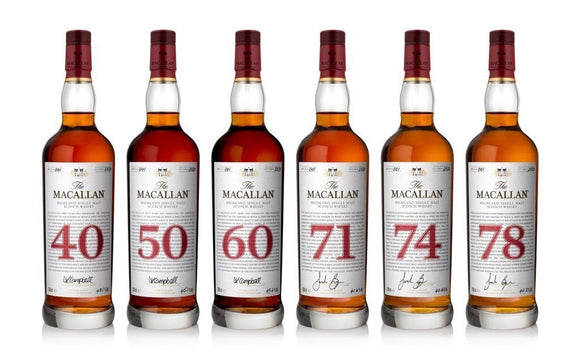 Macallan Red Collection FULL Set (40, 50, 60, 71, 74, 78) ..