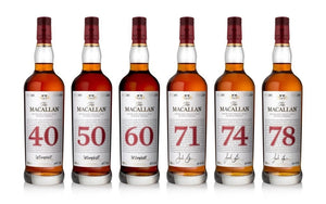 Macallan Red Collection FULL Set (40, 50, 60, 71, 74, 78) .