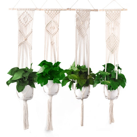 Hand Made Cotton Macrame Indoor Plant Hanger