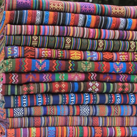 Ethnic Striped 100% Cotton Fabric