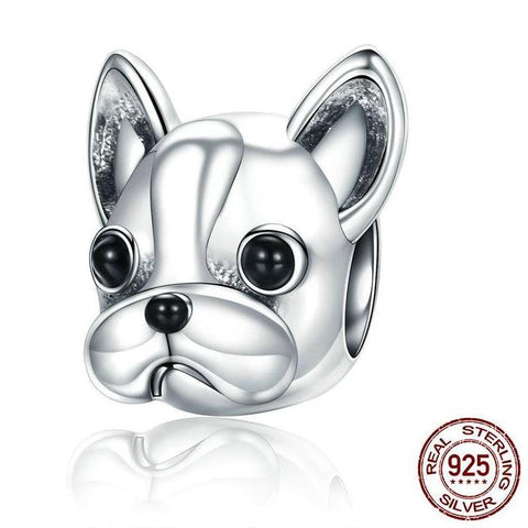 French Bulldog 925 Sterling Silver Charm