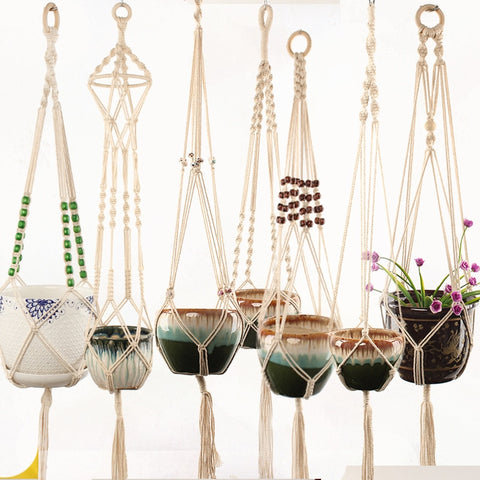 Handmade Natural Cotton Macrame Plant Hanger