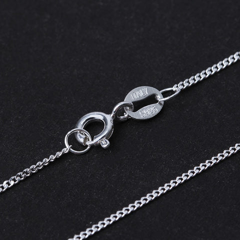 Very Fine 17 inch 925 Sterling Silver Necklace Chain