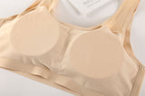 Seamless Rayon Lycra Stretch Vented Mesh Bra with Removable Pads