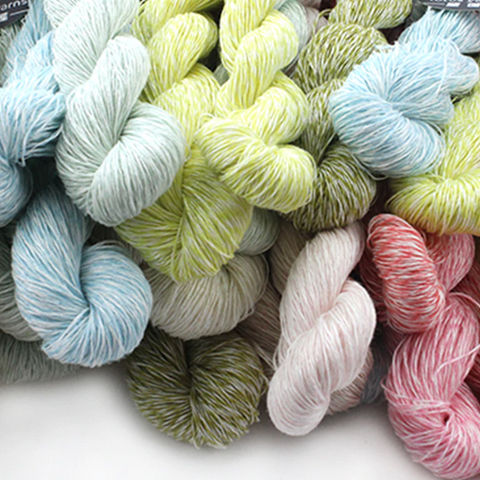 Lace Weight Linen Cashmere Yarn: Bag of 5 @ 50 Gram Hanks