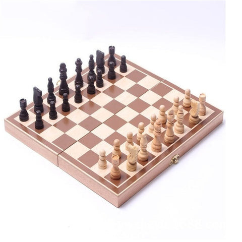 Folding Wooden International Chess Set