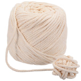 Durable 4mm Natural Beige Cotton Macrame Cord  100m (110 yd) Ball