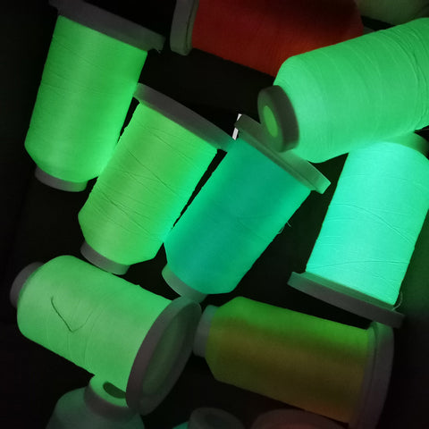 Glow in the Dark Luminous Polyester Embroidery Thread:  800 Meters 150D/2