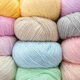 Super Soft Cotton Baby Weight Yarn in Scrumptious Colors