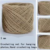 Natural Handmade Jute Rope in Varied Weights
