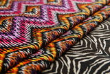 Abstract Zig Zag Cotton Linen Fabric - Price per Yard