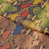Soft Natural Cork Fabric with Snake Skin Print
