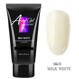 Jelly and Opaque Polyacrylic Gel Nail Builder for  UV/LED Cured Overlays and Extensions