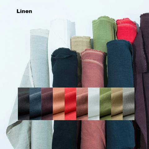 "Medium Weight 100% Pure Linen Fabric - Price per Yard of 56"" Wide Linen"