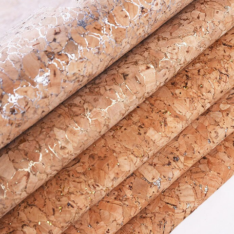 "Cork Fabric for DIY Projects : 39"" x 54/55 piece of 0.5 mm"