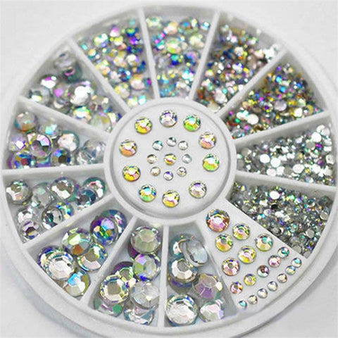 Box of Flat Backed Crystals for Nail Art or Other DIY Crafts