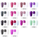 Frosted Colored Mood Gel Nail Polish - Changes Color With Temperature