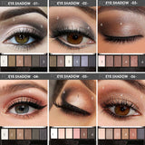 Nude Smokey Eye Palettes Seven Palettes with Six Colors Each