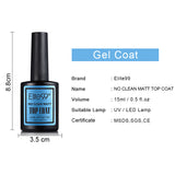 Gel Base Coat, Shiny Top Coat or Matte Top Coat 15 ml