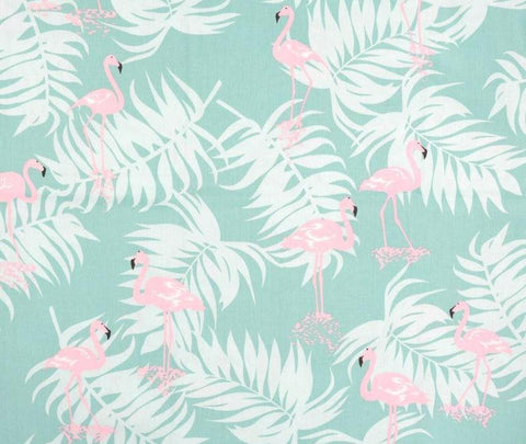 Flamingo Print 100% Cotton Broadcloth