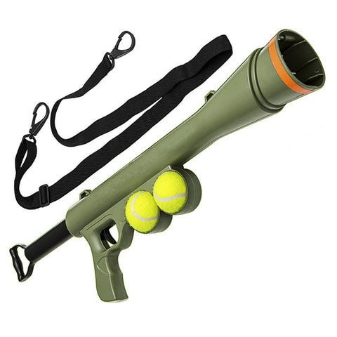 The Ultimate Dog Toy - A Tennis Ball Launcher!!
