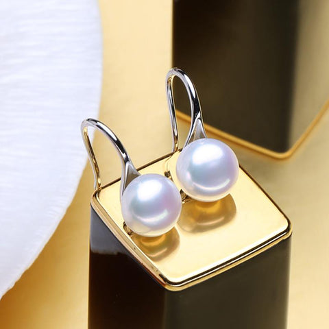 Elegant Sterling Silver Pearl Drop Earrings