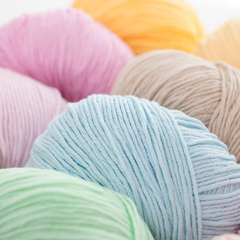 Super Soft Cotton Baby Weight Yarn in 21 Scrumptious Colors