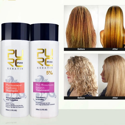 Brazilian Style Keratin Hair Treatment and Purifying Shampoo