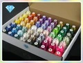 40 Brother Colors Polyester Machine Embroidery Threads 500m each + 20 filled plastic bobbins