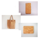"Printed Natural Cork Fabric 35"" x 54""  (90 x 135cm) Piece 0.5mm thick"
