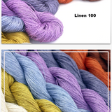 Exquisite 100% Linen Yarn with Over 300 Yards per Hank