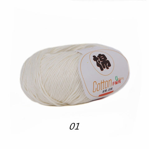 100% Cotton Sport Weight Yarn in 28 Colors