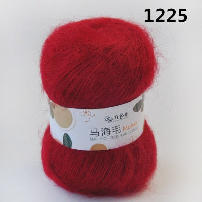 Fluffy Sport Weight Mohair/Acrylic  Yarn with Excellent Yardage