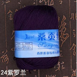 Three Skeins of Mulberry Silk Yarn